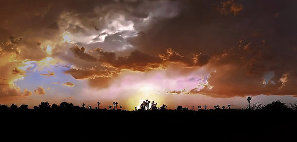 Lake Havasu monsoon storm sunset - 2009