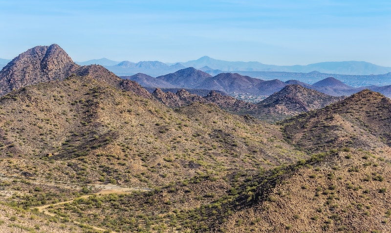 Hiking around at Peoria West Wing Mountain Preserve