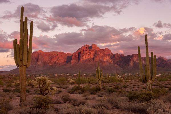 Twilight at Superstition Mountain