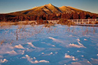 Last light on the San Francisco Peaks. Flagstaff Arizona