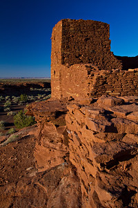 The Wukoki Pueblo ruins at Wupatki National Monument, outside of Flagstaff, Arizona. The more than 800-year-old ruins are highlighted by a three-story building that once housed a farming family.  © Kyle Spradley Photography | www.kspradleyphoto.com