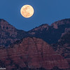 Full moon rising near Sedona.