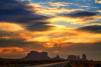 The Road To Monument Valley, Arizona