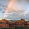 Rainbow in Sedona, Arizona