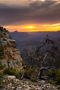 Sunrise along the Rim Drive in Grand Canyon National Park in Arizona.  © Kyle Spradley Photography | http://www.kspradleyphoto.com