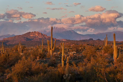 Clearing Winter Storm at Sunset Superstition Mountains Arizona