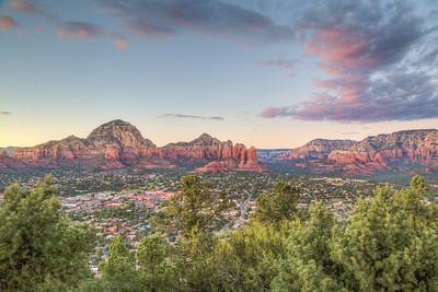 Sunset from Airport Mesa, Sedona, Arizona