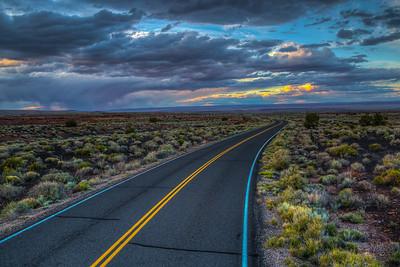 Road in Wupatki National Monument, Arizona, USA