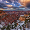 Snow Sunset at Grand Canyon