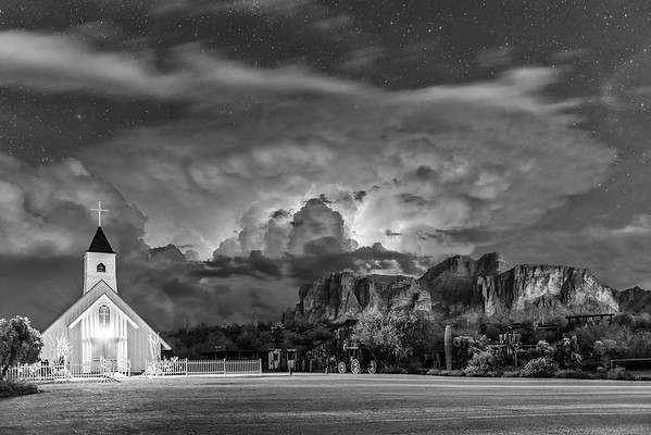 Electrifying Night over Superstition Mountain