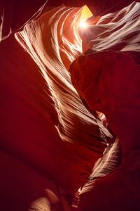 Catching sun in Antelope canyon