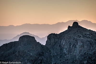 A sunset view from the road to Mt. Lemmon.