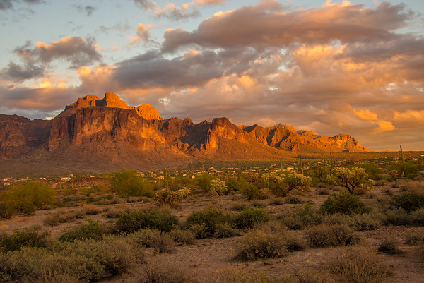 Sunset Over Superstition Mountain