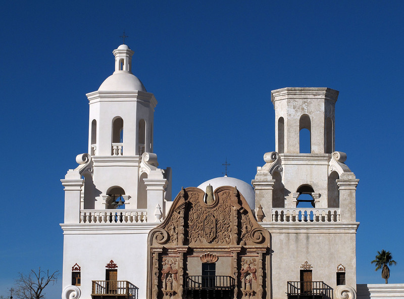 """San Xavier del Bac Mission      Dec. 23, 2012<br /> <br /> """"The mission represents on of the final expressions of the ultrabaroque in New Spain""""."""