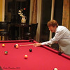 Mom learning to shoot pool (at brother David's house)