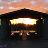 One of the picnic areas,  the light was captivating!<br /> Freestone Park, Gilbert AZ