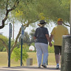 Found this older couple taking a walk, holding hands.  so cute :)