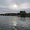 Overcast day in the Valley of the Sun,<br /> I was intrigued how the sun reflected on the water.<br /> Riparian Preserve