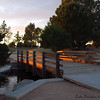 Love how the last bit of light filtered against the wooden bridge.  Freestone Park, Gilbert AZ