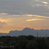 Sunrise over Superstition Mountains (as seen from Riparian's rotunda)