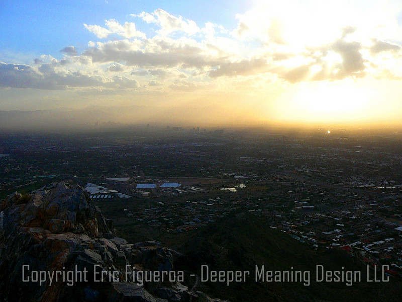 """Valley of the Sun - Piestewa Peak""  Phoenix, Arizona"