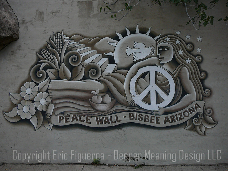 """The Peace Wall"" Bisbee, Arizona"