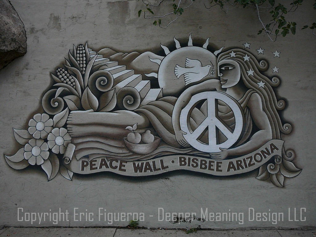 """The Peace Wall"" Bisbee, Arizona"