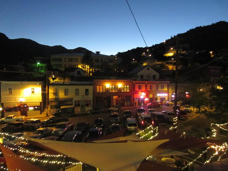 View from the balcony - the Eldorado Hotel, Bisbee