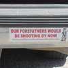 Another great bumper sticker on a pickup near Roosevelt Lake.