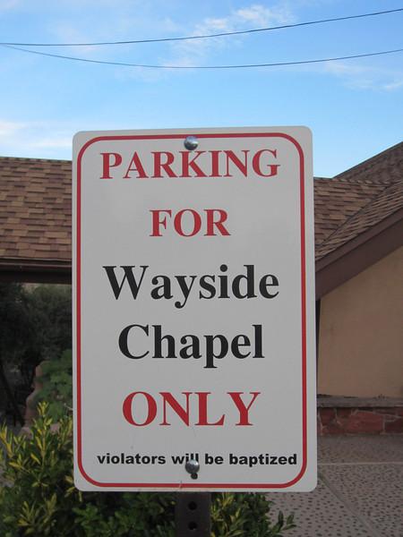 Violators will be baptized.