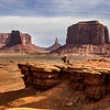 Navajo on a Horse in Monument Valley