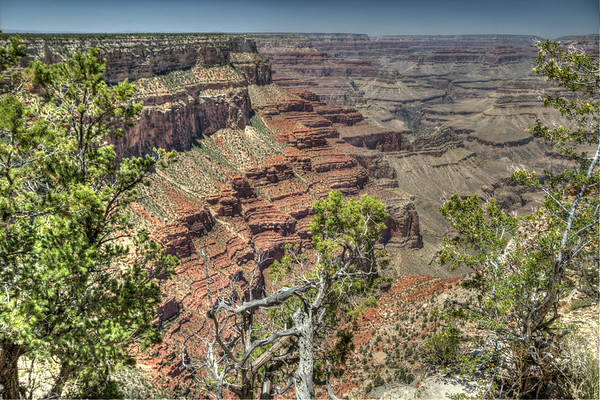 Millions of years have carved the many valleys and minor canyons of the Grand Canyon.