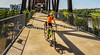 Cyclist(s) on Clinton Presidential Park-Rock Island Bridge in Little Rock - ACA South Loop - C2_D5A1765-Edit - 72 ppi-2