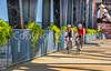 Cyclist(s) on Clinton Presidential Park-Rock Island Bridge in Little Rock - ACA South Loop - C1_1C30142 - 72 ppi