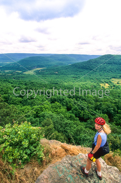 Rider at overlook in the Ouachita Mounains near Ola, Arkansas, on edge of Ouachita National Forest - 17 - 72 ppi