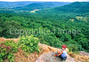 Rider at overlook in the Ouachita Mounains near Ola, Arkansas, on edge of Ouachita National Forest - 1 - 72 ppi