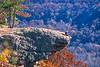 Biker at Hawksbill Crag, northwest Arkansas, Upper Buffalo Wilderness Area, 1 5-mile hike in from gravel road - 52 - 72 ppi