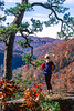 Cyclist on 1 5-mile hike to Hawksbill Crag in Upper Buffalo Wilderness Area - 5-Edit - 72 ppi
