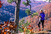 Cyclist on 1 5-mile hike to Hawksbill Crag in Upper Buffalo Wilderness Area - 6 - 72 ppi
