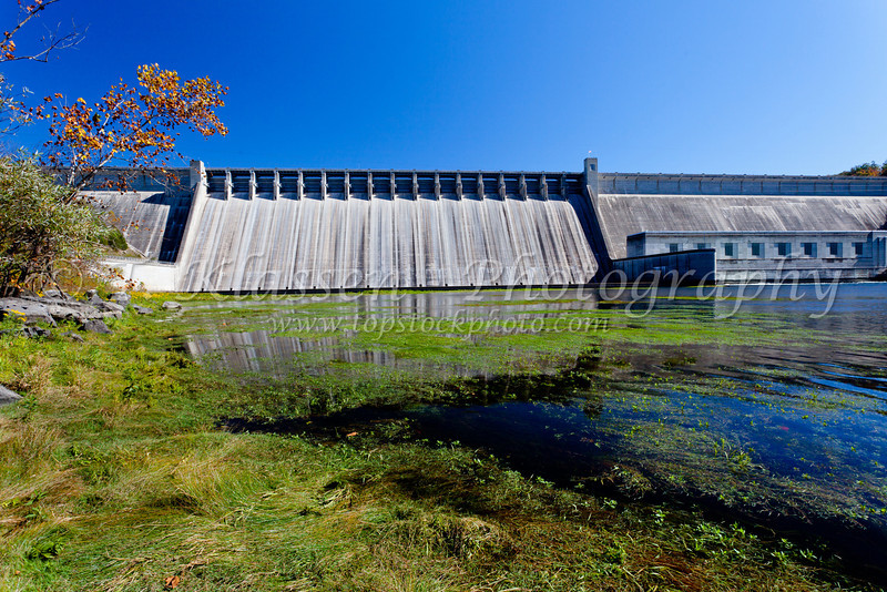 The Bull shoals Dam hydroelectric project in Arkansas, USA.