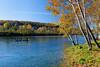 Fall foliage along the White River near the Gaston's Resort in Bull Shoals, Arkansas, USA.