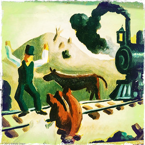 Excerpt from Study for Slow Train Through Arkansas - Thomas Hart Benton