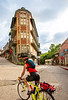 Cyclist in Eureka Springs, Arkansas - C3-30201 - 72 ppi