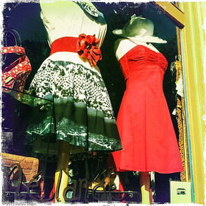 Window dressing in Eureka Springs