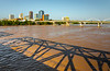 Little Rock, Arkansas - seen from Junction Bridge above flooded Arkansas River - _W7A0044 - 72 ppi