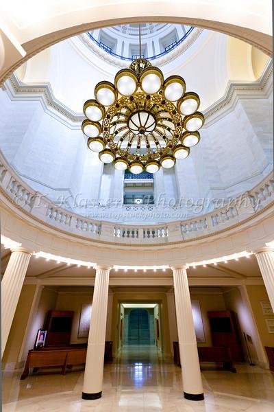 Interior of the Arkansas State Capitol building in Little Rock, Arkansas.