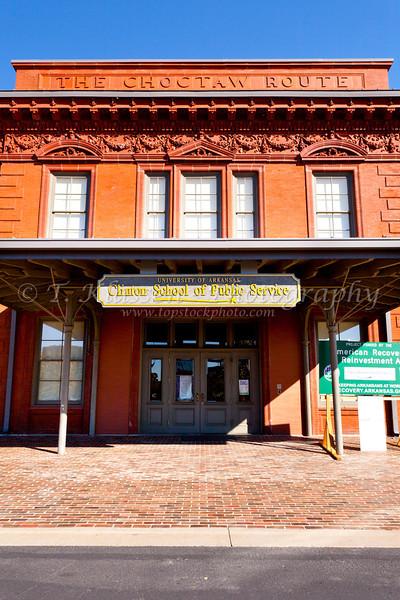 The Clinton school of Public Service building in Little Rock, Arkansas, USA.