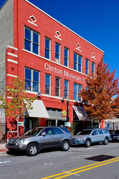 Exterior of the Clinton Museum in Little Rock, Arkansas, USA.