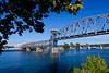 A bridge over the Arkansas river in Little Rock, Arkansas, USA.
