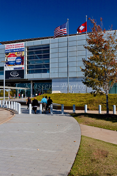 The William J Clinton presidential library in Little Rock, Arkansas, USA.